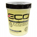 Eco Style Professional Styling Gel Black Castor & Flaxseed Oil 16 oz / 473 ml